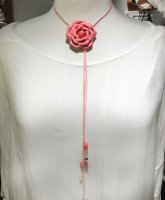 Rose Leather Necklace