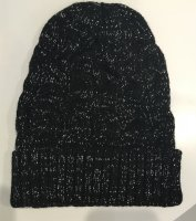 Cable Knit Beanie With Lurex