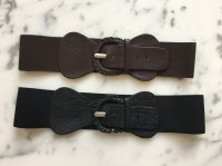 Leather Belt With Elastic