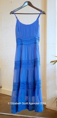 Silk/Viscose Dress With Lace Panels