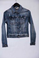 Frayed Stretch Denim Jacket