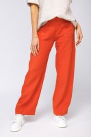 Linen Pants with Covered Button detail
