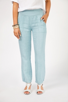 Linen Pant with Elasticised Hem