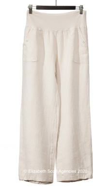 New Linen Pants With Elasticised Hem