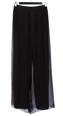 Silk Pants With Pull On Waist