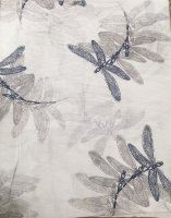 Italian Silk/Cotton Dragonfly Print Scarf