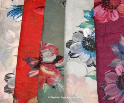 Brush Stroke Flower Scarf