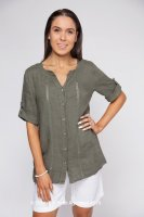 Linen Shirt With Lace inserts