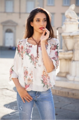 Digital Floral Print Top