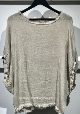 Raw Edge Linen Top