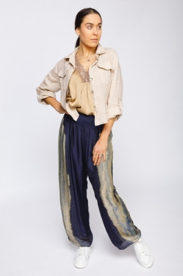 Linen Jacket With Frill Detail